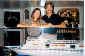 Bonnie and John, L&A's 1-year anniversary, 1990