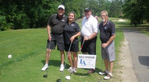 CNTA Golf Tourney 2017 (L-R: Sonny Walker, Christine Gelles, Clay Ramsey, Doug Shelton)