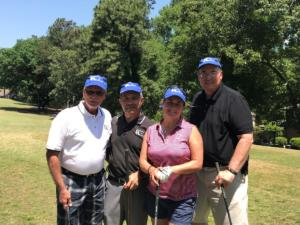 CNTA Golf Tourney 2018 (L-R: Doug Shelton, Mosi Dayani, Christine Gelles, Clay Ramsey)