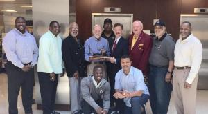 DC Chapter Former NFL players Visit Walter Reed National Medical Center