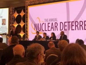 John Longenecker moderating at the 2019 Annual Nuclear Deterrence