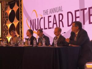 Christine Gelles speaking on a panel at the 2019 Annual Nuclear Deterrence