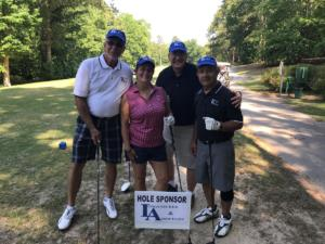 CNTA Golf Tourney 2018 hole sponsor (L-R: Doug Shelton, Christine Gelles, Clay Ramsey, Mosi Dayani)